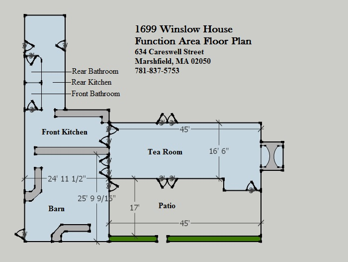 Rent the house historic winslow house for Rental property floor plans